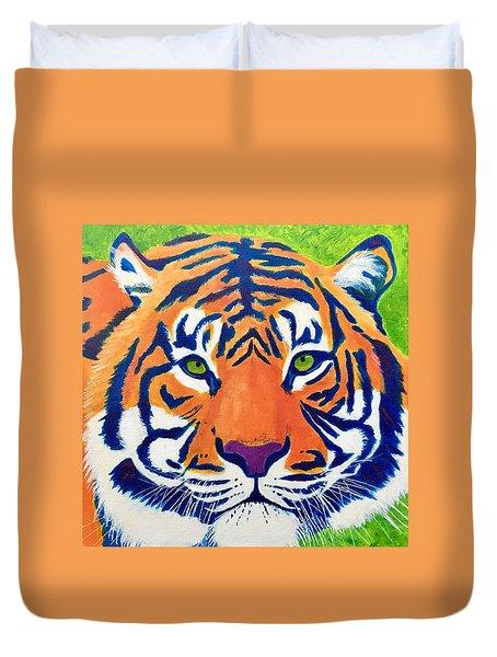 Critically Endangered Sumatran Tiger Duvet Cover