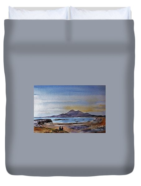 F801  Croagh Patrick From Old Head, Mayo Duvet Cover