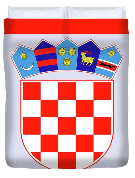 Croatia Coat Of Arms Duvet Cover by Movie Poster Prints