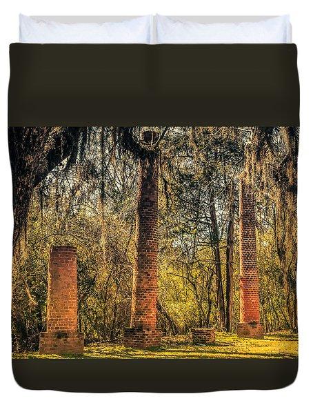 Crocheron Columns Old Cahawba Duvet Cover by Phillip Burrow