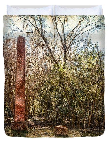 Crocheron Columns Duvet Cover by Phillip Burrow