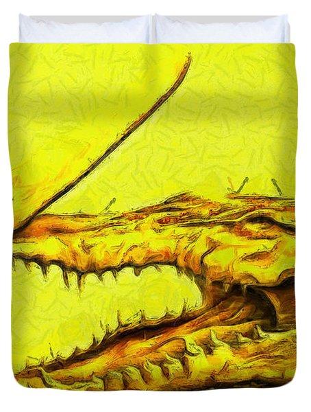 Crococlipper - Pa Duvet Cover