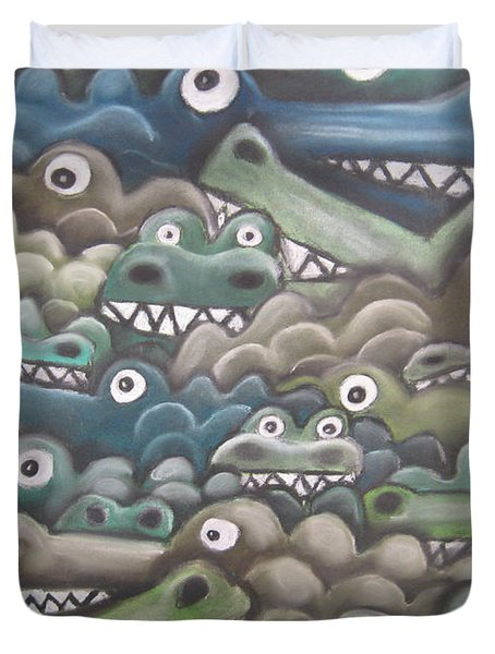 Crocodile Soup Duvet Cover