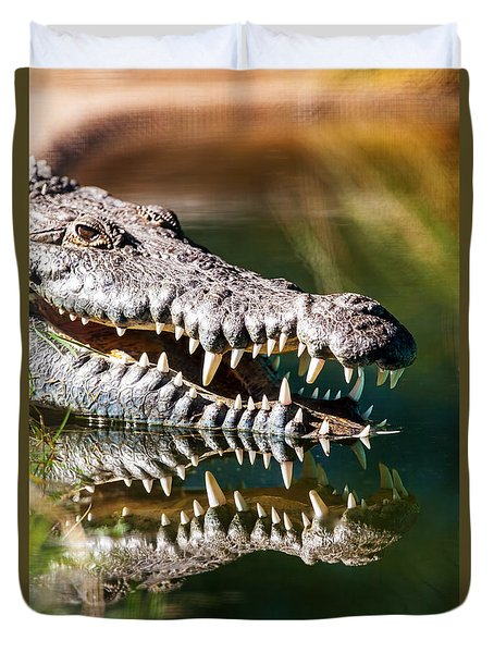Crocodile With Sharp Teeth Duvet Cover