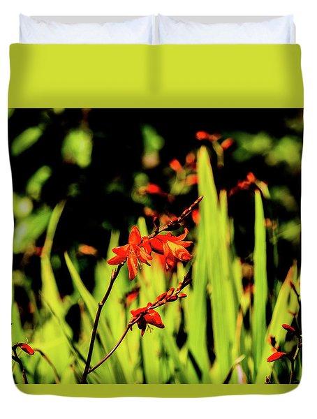 Crocosmia Duvet Cover