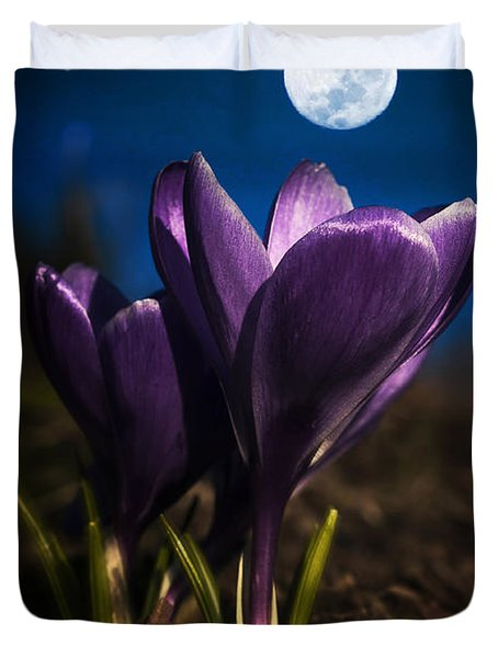 Crocus Moon Duvet Cover