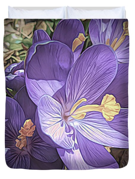 Crocus Soft And Pretty Duvet Cover