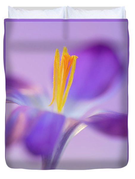 Crocus Stand Proud  Duvet Cover