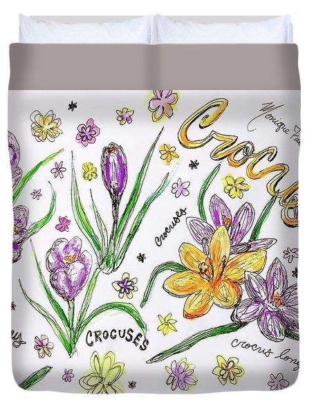 Crocuses Duvet Cover