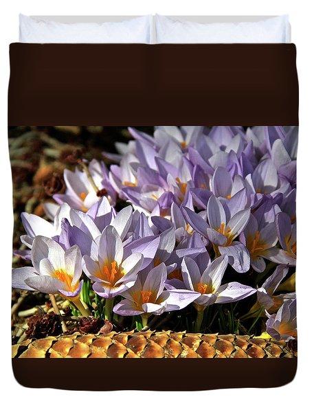 Crocuses Serenade Duvet Cover