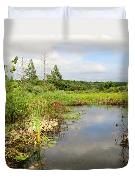 Crooked Creek Preserve Duvet Cover by Kimberly Mackowski