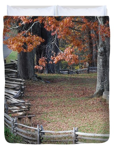 Crooked Fence Duvet Cover by Eric Liller