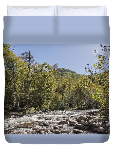 Crooked Tree Curve Duvet Cover by Ricky Dean