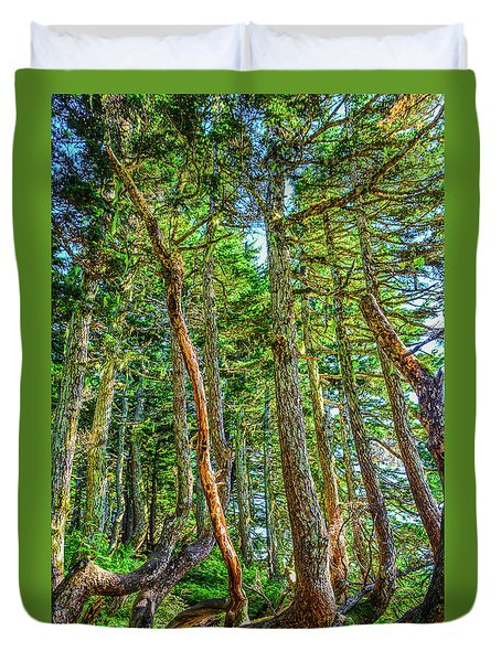 Crooked Trees Of Mt Roberts Duvet Cover