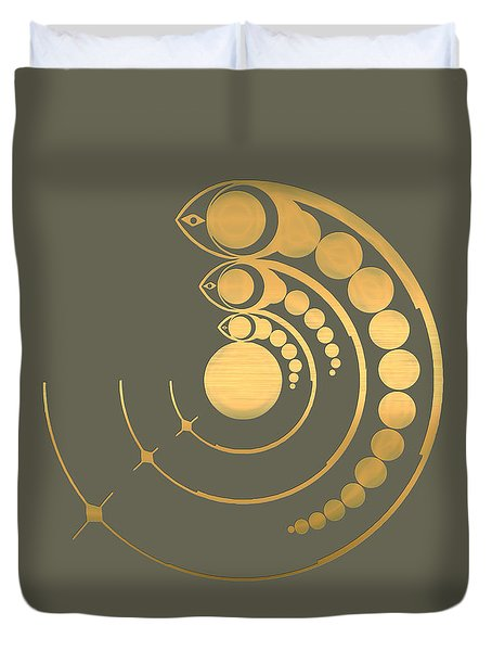 Crop Circle Formation Near Avebury  Duvet Cover by Serge Averbukh
