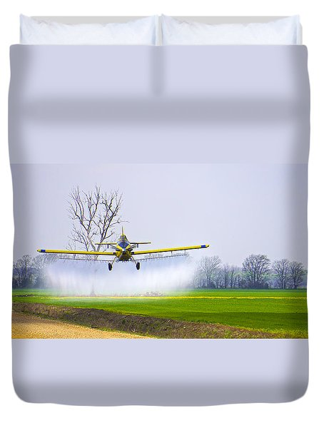 Precision Flying - Crop Dusting 1 Of 2 Duvet Cover