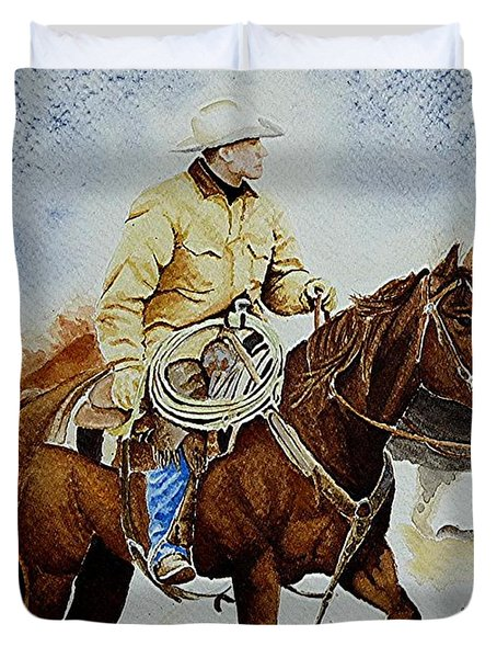 Cropped Ranch Rider Duvet Cover