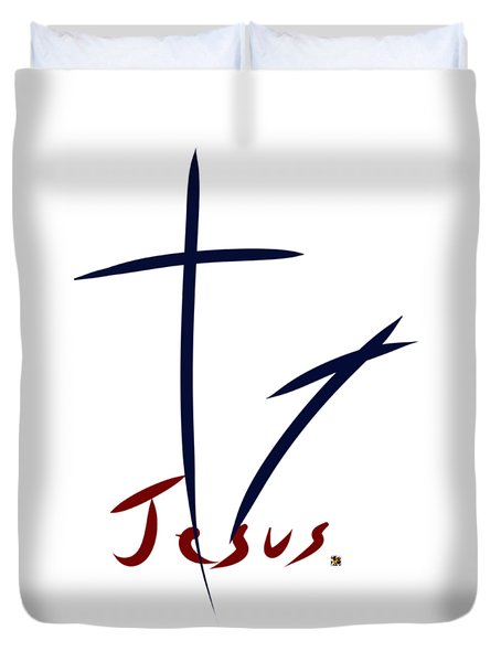 Cross And Shadow Duvet Cover