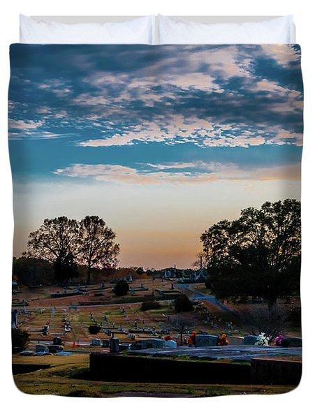 Cross At Sunset Duvet Cover