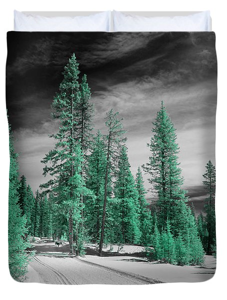 Cross Country Ski Path Duvet Cover
