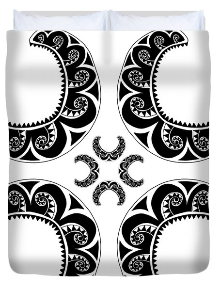 Cross Maori Style Duvet Cover