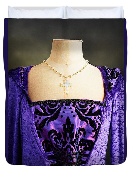 Cross Necklace Duvet Cover