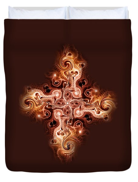 Cross Of Fire Duvet Cover by Anastasiya Malakhova