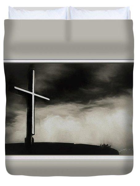 Cross On A Hill Duvet Cover