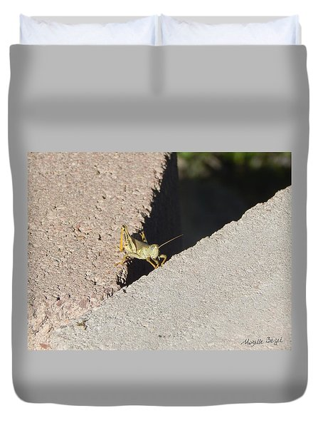 Cross Over Grasshopper Duvet Cover
