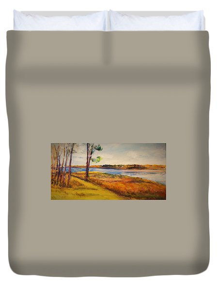 Cross Ranch State Park Duvet Cover