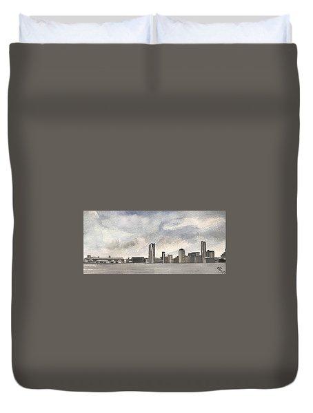 'cross The Mersey Duvet Cover