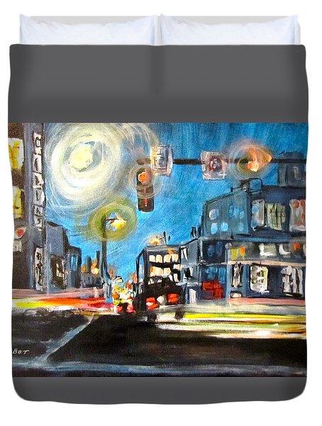 Cross Traffic Duvet Cover by Barbara O'Toole