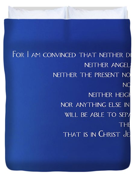 Cross With Blue Sky Duvet Cover
