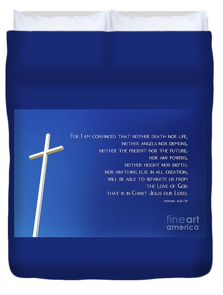 Cross With Blue Sky Duvet Cover
