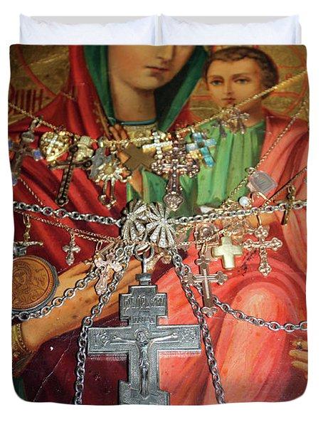 Crosses Duvet Cover by Munir Alawi
