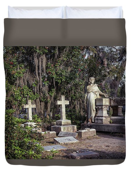 Duvet Cover featuring the photograph Crosses Three by Kim Hojnacki