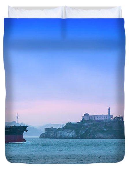 Crossing Alcatraz Duvet Cover