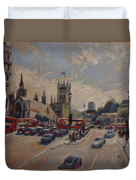 Crossing At Westminster Duvet Cover