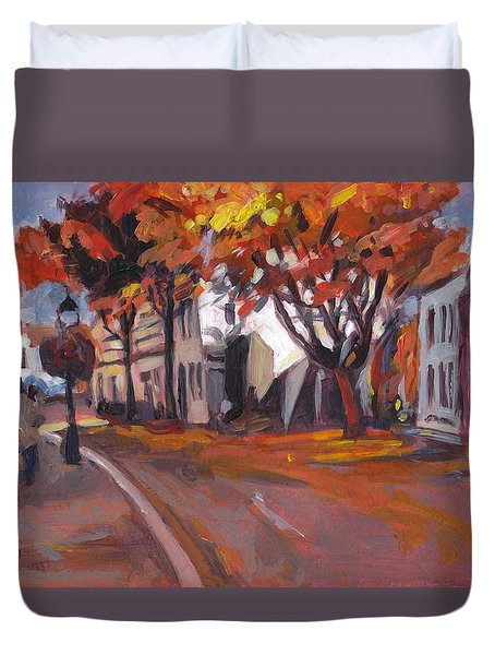 Crossing In Maastricht Duvet Cover
