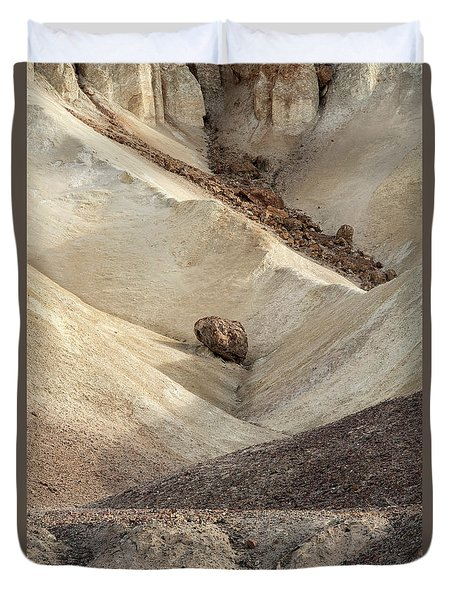 Duvet Cover featuring the photograph Crossing Paths - Death Valley by Sandra Bronstein
