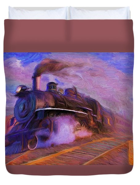 Crossing Rails Duvet Cover
