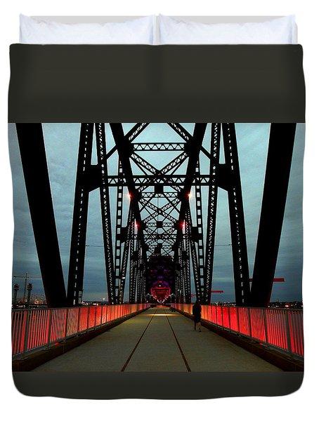 Crossing The Bridge Duvet Cover