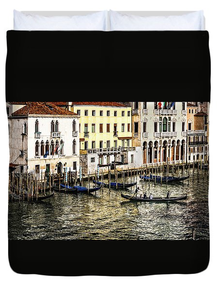 Crossing The Canal Duvet Cover