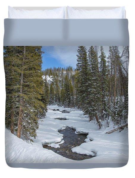 Crossing The Elk Duvet Cover