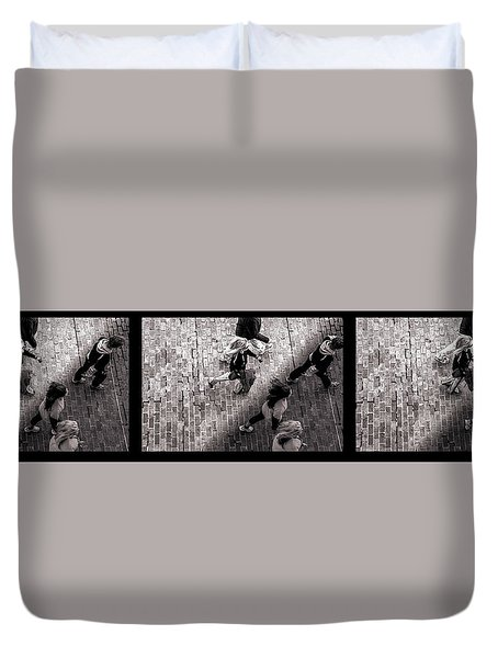 Crossing The Shadow Line Duvet Cover by Bob Orsillo