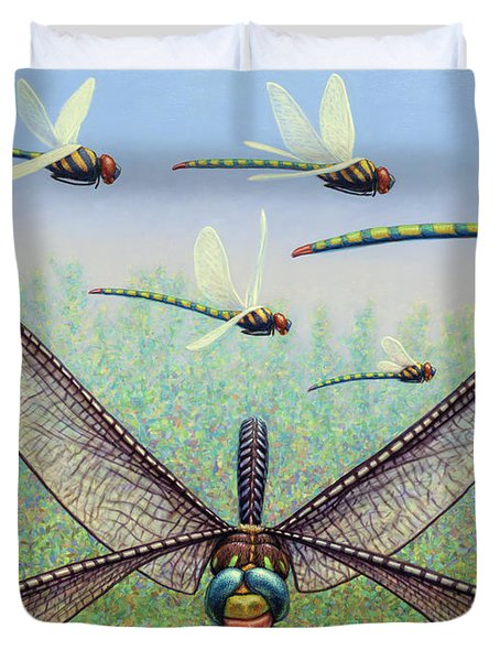 Duvet Cover featuring the painting Crossways by James W Johnson