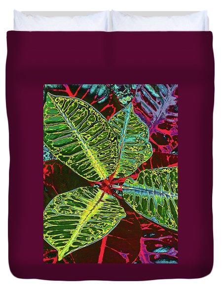 Croton - Deep Green Duvet Cover