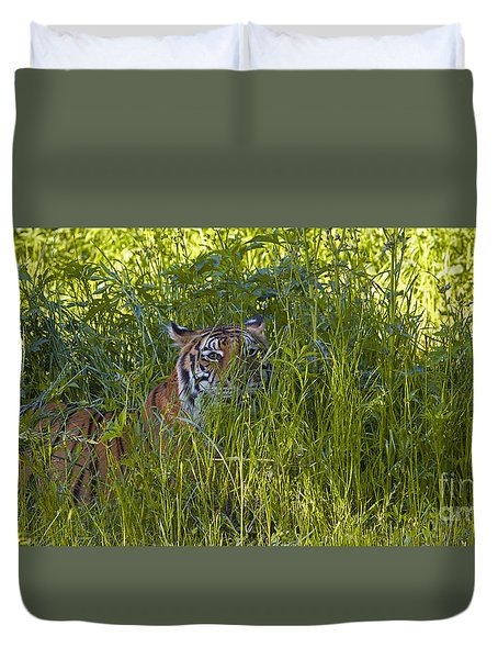 Crouching Tiger Duvet Cover
