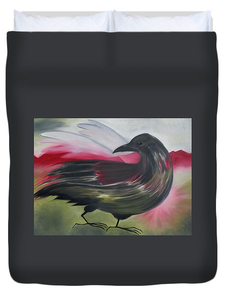 Crow Duvet Cover by Karen MacKenzie