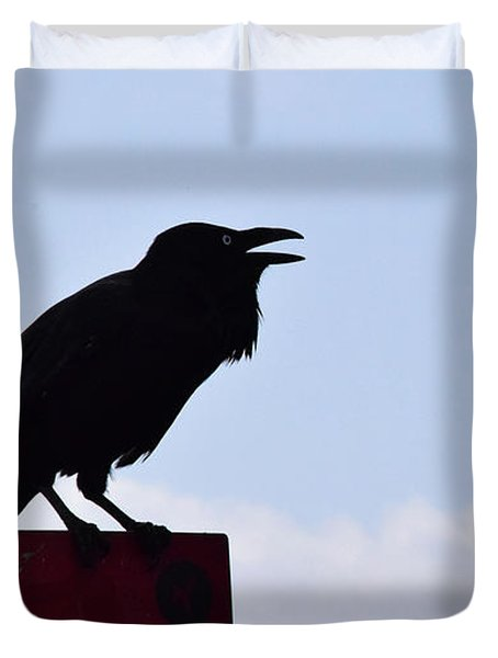 Crow Profile Duvet Cover